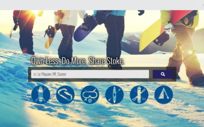 Stokeshare, plateforme de prêt de matériel de sports outdoor, entre particuliers