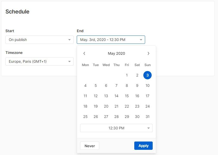 solution notification wisp - screenshot configuration planning marketing (2020-05-02, getwisp)